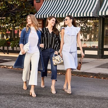 Women walking down the street in WWW Spring